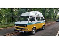 VW T25 Camper Van. 1988, Petrol, 116k miles, 10 month MOT with no advisories