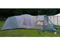 Large big, 9 man tent for sale. Three bedrooms, living room, high ceilings. Royal Biarritz. £150 ono