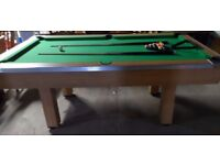 Quality Pool Table,Pool Balls, 2 Cues and Triangle.