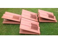 8 x Terracotta Coloured Roof Tile Vents
