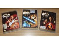 Star Wars DVDs - Episodes 1 - 3 (The Phantom Menace, Attack of the Clones, Revenge of the Sith)