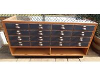 VINTAGE 16 DRAWER HABERDASHERY APOTHECARY COUNTER CABINET £850 ONO