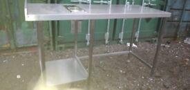 Catering equipment commercial Stainless steel tables sinks racking shelving restaurant kitchen items