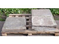 Concrete paving slabs, 2ft x 2ft and 2.5ft x 2ft, ideal for shed base, can deliver