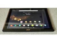 Acer Iconia Tab 10 BLACK 10.1 inch IPS 1920x1200 Tablet 32GB Android DTS Sound