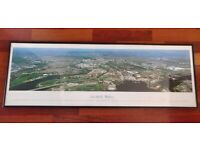 Large Framed Panoramic Cardiff Landscape Picture