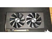 SAPPHIRE NITRO AMD Graphics Card Radeon RX 480 Nitro 8GB GDDR5 USED