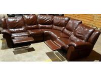 Recliner corner sofa. Can deliver