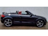 2007 [57] AUDI TT TFSI BLACK WITH RED LEATHER - 1 YEARS MOT - 64.000 MILES (PART EX WELCOME)