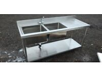 Catering equipment commercial metal Stainless steel sinks