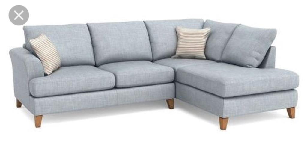 Dfs Light Blue Left Hand Corner Sofa In Salisbury