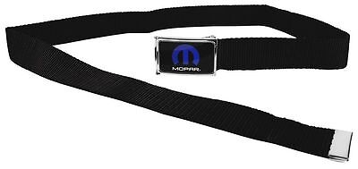 "Clamp Web Men Canvas Military Jeep Dodge Mopar HEMI Logo Blue White 1.5"" Black"