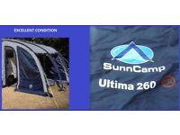 Caravan Awning Sunncamp Ultima 260 Porch Awning Light Weight BARGAIN.