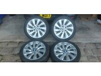BMW 1Series Alloy Wheels with Winter Tyres