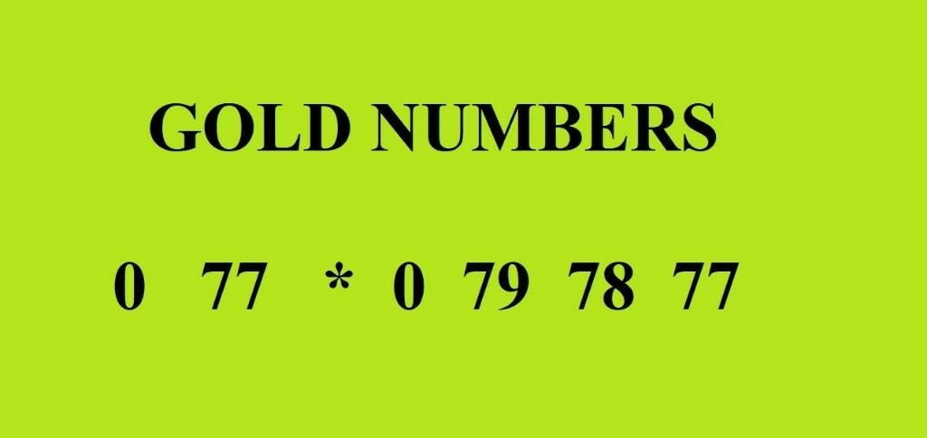Gold Numbers for Sale 0 77 * 0 79 78 77