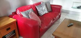 2 seater & 3 seater leather sofa