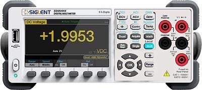 Siglent Sdm3055 Precision Desktop Digital Multimeter Acdc Volt Amp Hz Temp