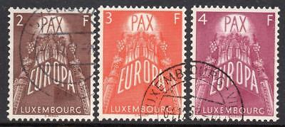 LUXEMBOURG  USED 1957 SG626-28 EUROPA