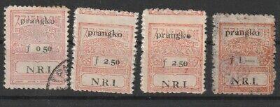 Indonesia Interim Sumatra Japan fiscals with N.R.I. overprints