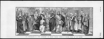 1880 Antique Print - OXFORD BALLIOL COLLEGE COSTUME GROUP PLAYERS AGAMEMNON (138