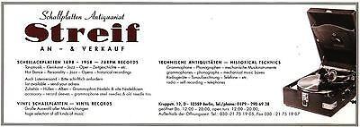 Schallplatten Antiquariat Streif