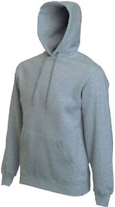 FRUIT OF THE LOOM HOODED SWEATSHIRT hoody 17cols 5sizes