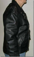 Black Leather Jacket -Size 38 For Sale!