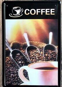 8 x 12 inch- Store/Restaurant Coffee Advertisement Tin Wall Sign