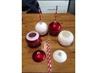 Christmas drink baubles