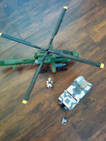 mega bloks helicopter and jeep