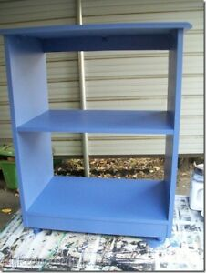 Blue Microwave Stand