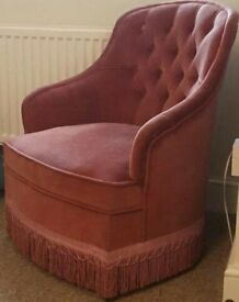 Small pink tub chair