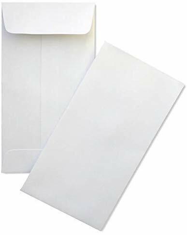 "2-1/4"" X 3-1/2"" Premium 24lb #1 White Coin Envelope (500 Count) #PAEF002"