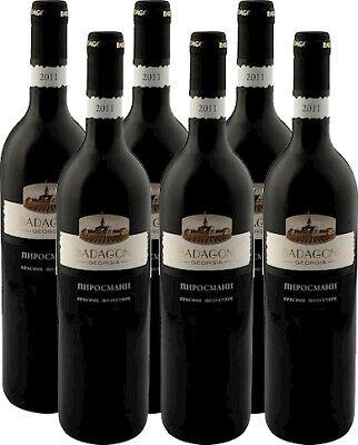 Badagoni Pirosmani Rotwein aus Georgien halbtrocken 6x0,75L. 13% vol. Пироcмани