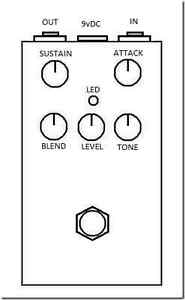 5 Knob Compressor (better than Keeley!) Cambridge Kitchener Area image 3