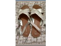 New Look Silver Sandals Size 5