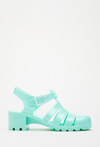 Forever 21 Mint Jelly Sandals
