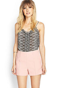 High Waisted shorts with pockets . NEW