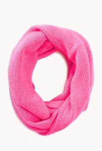 Forever 21 Classic Knit Infinity Scarf - Pink
