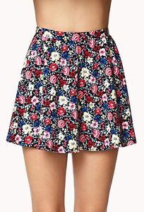 Forever 21 Cotton Floral Skater Skirt