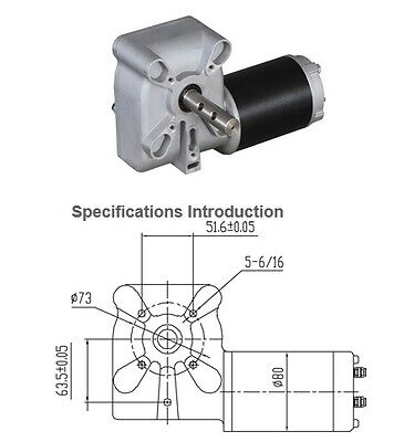 tarp gear motor 12v dc with cover 90:1 gear ratio 600 watt