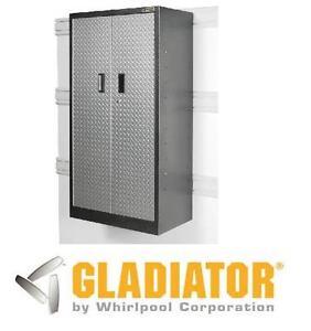 NEW* GLADIATOR ROLLING CABINET - 119305093 - 66 in. H x 30 in. W x 18 in. D STEEL ROLLING GARAGE CABINET IN SILVER TREAD
