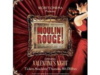 Moulin Rouge: Secret Cinema - Sunday 4 June 2017 - 2 TICKETS!