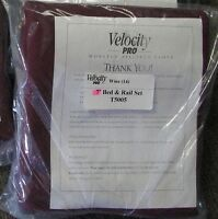 Velocity Pro Worsted - 7' Pre-cut  Pool Table Cloth Set -  Wine