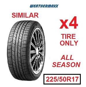 4 NEW WEATHERMAXX TIRES - 113107842 - ALL SEASON 225/50R17 94V