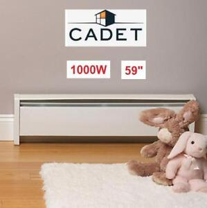 """NEW CADET 59"""" BASEBOARD HEATER 13159 210843279 SOFTHEAT HYDRONIC 1000W 240V W/LEFT END CORD"""