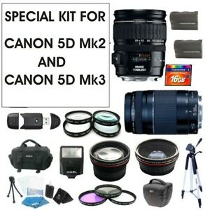 SPECIAL LENS SET FOR CANON EOS 5D MK3  28-135 IS &  75-300 III Bundle Kit