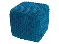 Set of four knitted pouffes