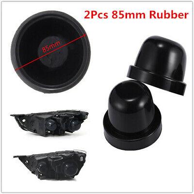 2Pcs 85mm Black Rubber Car LED HID Headlight Light Housing Seal Cap Dust Cover
