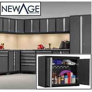 NEW NEWAGE PRO STEEL WALL CABINET - 109289631 - GRAY GREY 18 GAUGE METAL WALL CABINET